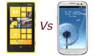 Lumia vs. Galaxy S 3