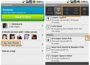 Foursquare for android