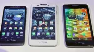 Motorola's Moto X, Apple iPhone 5S and Google Nexus 5