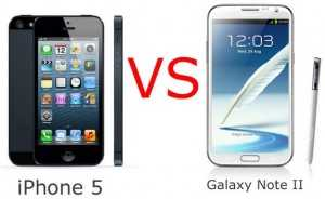 Samsung Galaxy S 2 vs. Apple iPhone 5