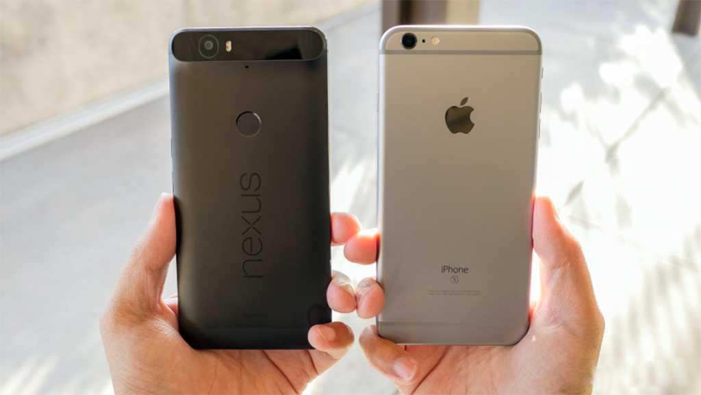 Google Nexux 6P vs. Apple iPhone 6S Plus features
