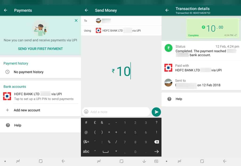 whatsapp-payments-setup to transfer