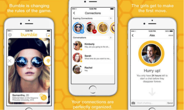 bumble dating apps screenshots