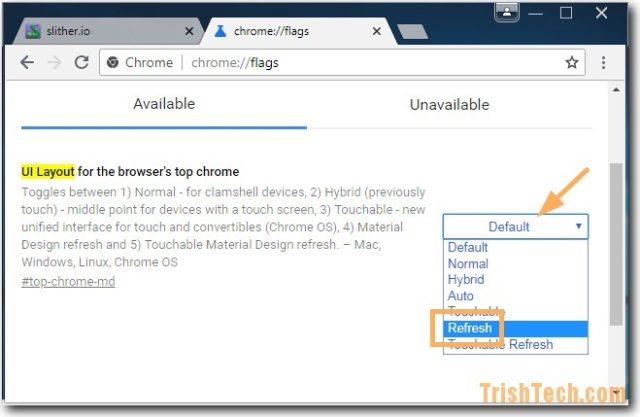 change chrome://flags settings