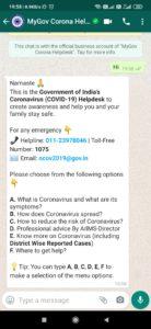 MyGov Coronavirus Helpdesk