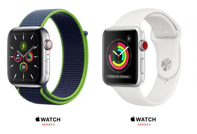 apple watch 5 series vs 3 series