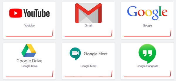Gmail, YouTube and Google Drive