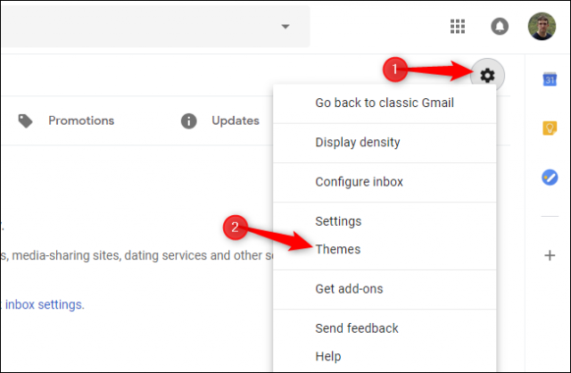 How to use and change theme in Gmail 1