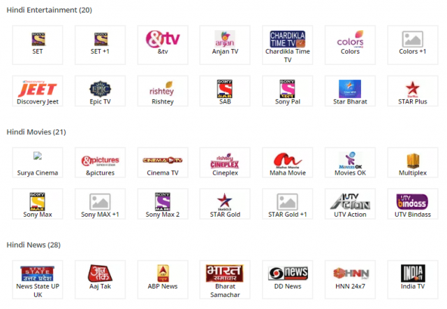 how to select channels in tata sky 1