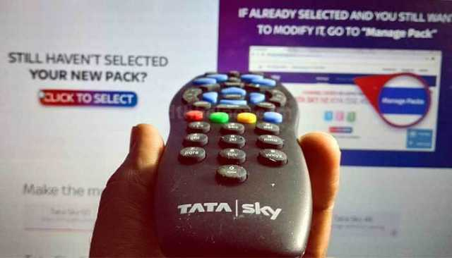 how to select channels in tata sky 2